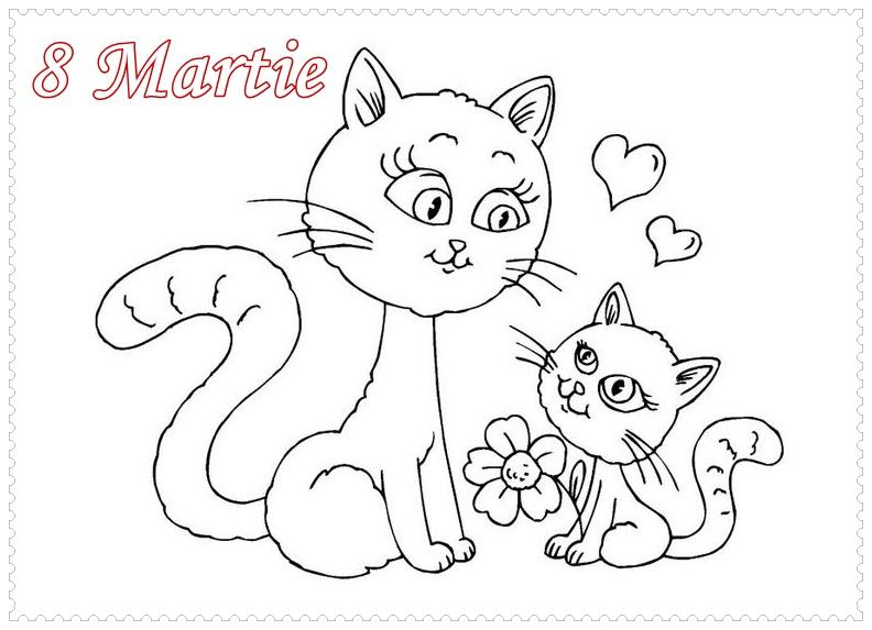 Planse De Colorat 8 Martie Pentru Mama