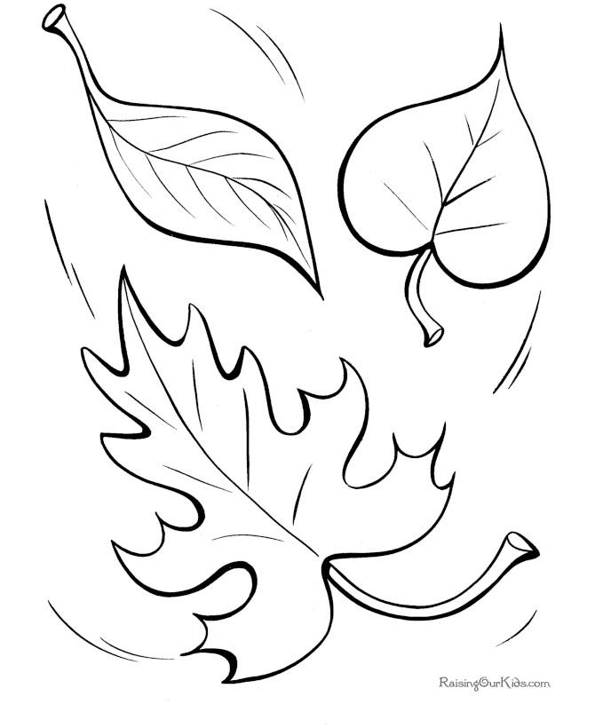 Frunze planse de colorat for Leaf coloring pages