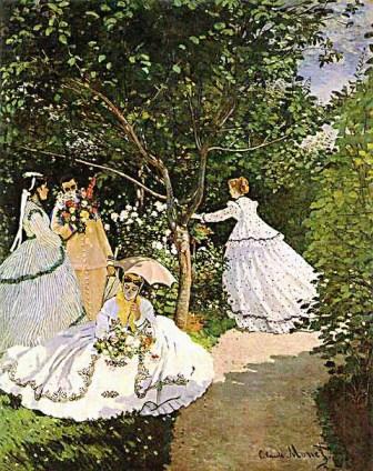 Femei in gradina de Claude Monet