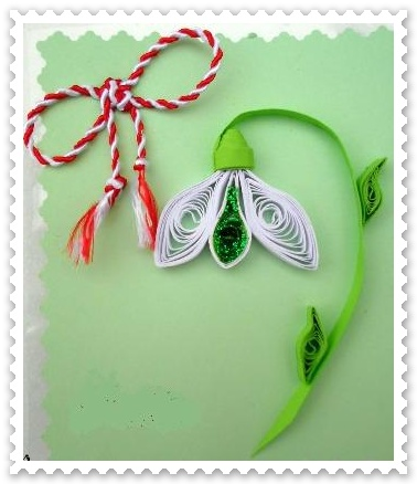 Ghiocei hartie quilling